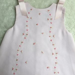 Luli Girls Pink Embroidered Floral Dress Size 24 M